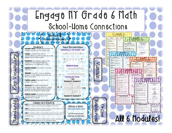 Engage NY Grade 6 Math School-Home Connections