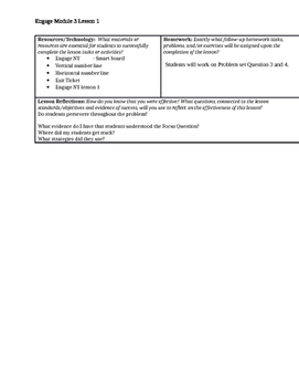 Engage NY Grade 6 Mathematics; Module 3 Lesson Plan 1