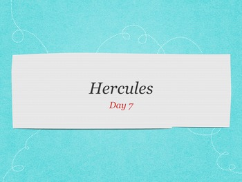 Engage NY Greek Myths Day 7