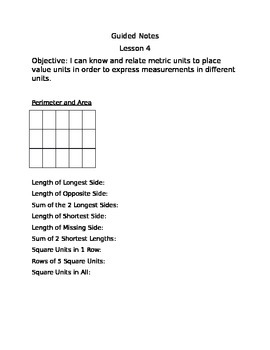 Engage NY Guided Notes Module 2 Lesson 4
