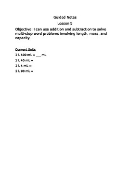 Engage NY Guided Notes Module 2 Lesson 5