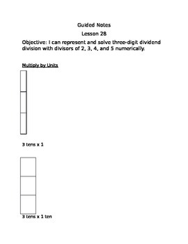 Engage NY Guided Notes Module 3 Lesson 28