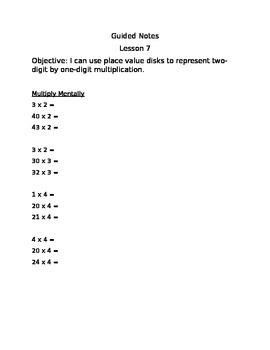 Engage NY Guided Notes Module 3 Lesson 7