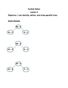 Engage NY Guided Notes Module 4 Lesson 4