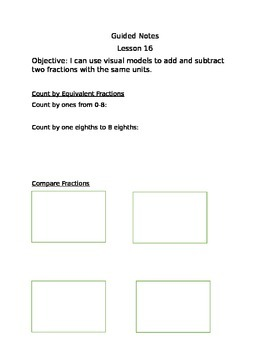 Engage NY Guided Notes Module 5 Lesson 16