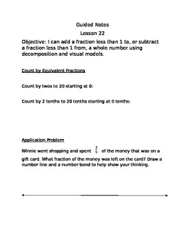 Engage NY Guided Notes Module 5 Lesson 22