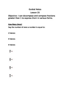 Engage NY Guided Notes Module 5 Lesson 25