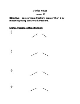 Engage NY Guided Notes Module 5 Lesson 26