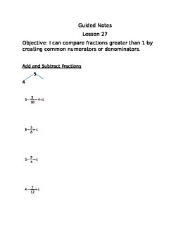 Engage NY Guided Notes Module 5 Lesson 27