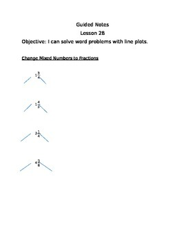 Engage NY Guided Notes Module 5 Lesson 28