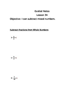 Engage NY Guided Notes Module 5 Lesson 34