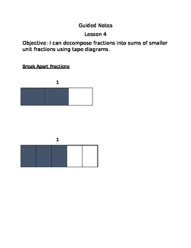 Engage NY Guided Notes Module 5 Lesson 4