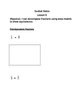 Engage NY Guided Notes Module 5 Lesson 6