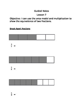 Engage NY Guided Notes Module 5 Lesson 7