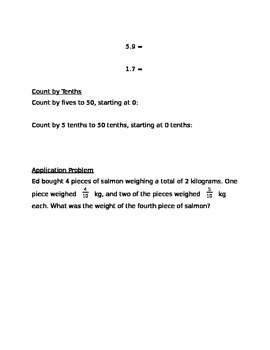 Engage NY Guided Notes Module 6 Lesson 3