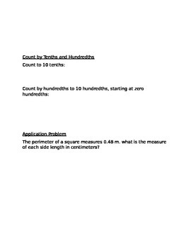 Engage NY Guided Notes Module 6 Lesson 5