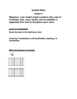 Engage NY Guided Notes Module 6 Lesson 7