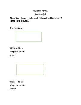Engage NY Guided Notes Module 7 Lesson 16