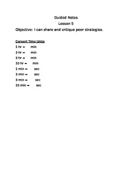 Engage NY Guided Notes Module 7 Lesson 5