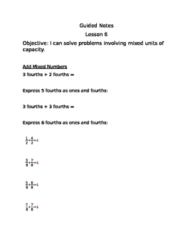 Engage NY Guided Notes Module 7 Lesson 6