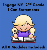 "Engage NY ""I Can"" Statements for Second Grade ALL 8 Modules FULLY EDITABLE"