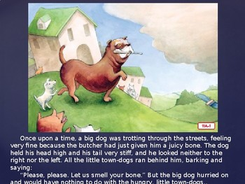 Engage NY Kinder ELA Unit 1  Fables Lesson 11 The Dog and His Reflection