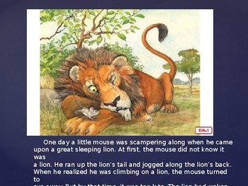 Engage NY Kinder ELA Unit 1 Nursery Rhyme and Fable 10a The Lion and the Mouse