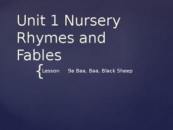 Engage NY Kinder ELA Unit 1 Nursery Rhyme and Fable 9a Baa Baa Black Sheep