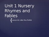 Engage NY Kinder ELA Unit 1 Nursery Rhyme and Fable Lesson 4b Little Miss Muffet