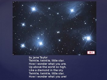 Engage NY Kinder  Unit 1 Nursery Rhyme and Fable 6b Twinkle Twinkle Little Star