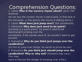 Engage NY Kindergarten ELA Unit 1 Nursery Rhymes and Fables - 3a Jack Be Nimble