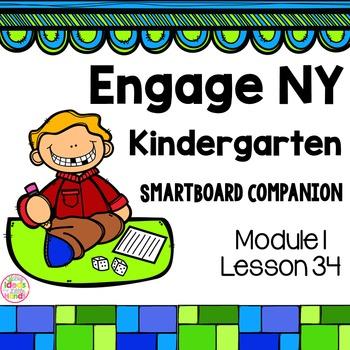 Engage NY Kindergarten Math Module 1 Lesson 34 SmartBoard