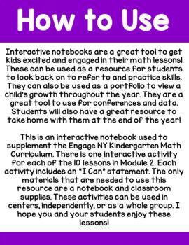 Engage NY Kindergarten Math Module 2 Interactive Notebook