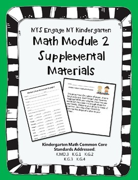 Engage NY Kindergarten Math Module 2 Pacing, application, and assessment