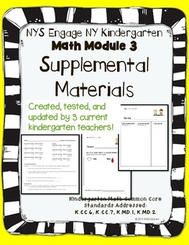 Engage NY Kindergarten Math Module 3 Pacing, application, and assessment