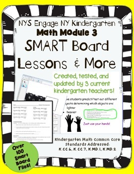 Engage NY Kindergarten Math Module 3 SMART Board and More!