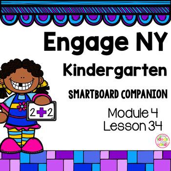 Engage NY Kindergarten Math Module 4 Lesson 34 SmartBoard