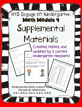 Engage NY Kindergarten Math Module 4 Pacing, application, and assessment