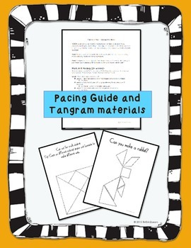 Engage NY Kindergarten Math Module 6 Pacing, application problems and tangrams