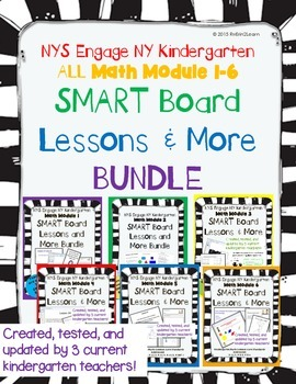 Engage NY Kindergarten Math Modules SMART Board and More Full Year