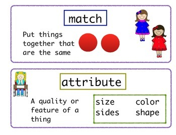 Engage NY Kindergarten Math Vocabulary