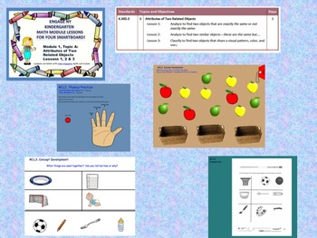 Engage NY Kindergarten Module 1, Topic A lessons (1 - 3) for your SmartBoard!
