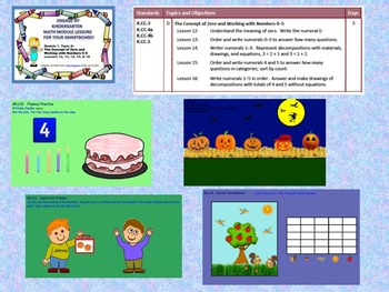 Engage NY Kindergarten Module 1, Topic D lessons (12 - 16) for your SmartBoard!