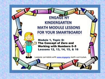 Engage NY Kindergarten Module 1, Topic D lessons (12 - 16)