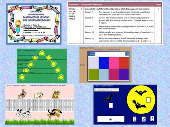 Engage NY Kindergarten Module 1, Topic C lessons (7 - 11) for your SmartBoard!