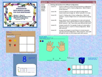 Engage NY Kindergarten Module 1, Topic E lessons (17 - 22) for your SmartBoard!