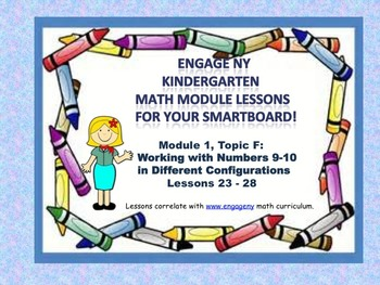 Engage NY Kindergarten Module 1, Topic F lessons (23 - 28) for your SmartBoard!