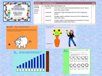 Engage NY Kindergarten Module 1, Topic G lessons 29 - 32 for your SmartBoard!