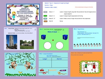 Engage NY Kindergarten Module 3 Topic A (Lessons 1 - 3) for your SmartBoard