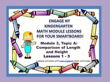 Engage NY Kindergarten Module 3 Topic A (Lessons 1 - 3) fo